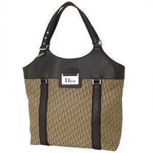 Christian Dior Signature Canvas Leather Tote Bag 28161