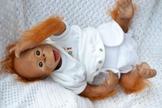 PJs WOW So Cute Reborn Baby Girl Orangutan Monkey Chimp Binki Now Lucy