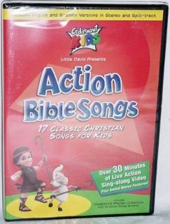 Action Bible Songs New DVD 17 Classic Christian Songs for Kids