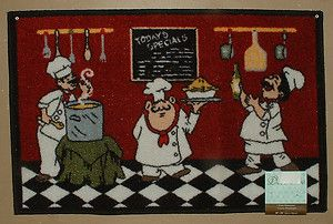 Italian Kitchen Rugs More Red Tan French Bistro Fat Chef