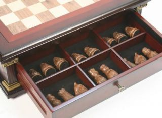 New Tuscany Chess Chinese Checkers Wooden Game Table