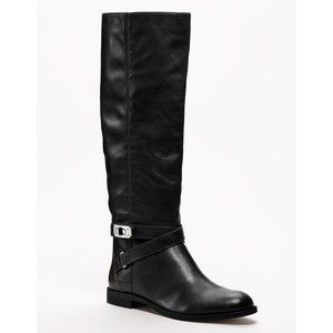 New A7078 Coach Christine Black Leather Tall Riding Boots 9 5 $298