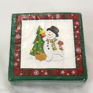 LONGABERGER BASKETS 2004 CHRISTMAS HOLIDAY SNOWMAN BLUSTER PAPER