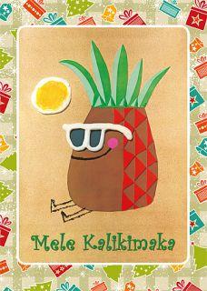 12 Hawaiian Holiday Card Hawaii Christmas Kalikimaka Hi