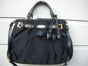 NWTS Brahmin Caroline Black City Cinches Handbag Gift Gift