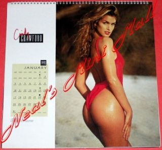 cindy crawford 1993 16 month calendar unused insured