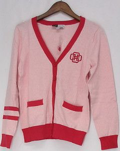 Simply Chloe Dao Sz XS Cardigan Sweater with Long Sleeves Heather Pink