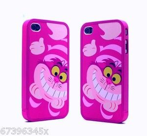 Cheshire Cat Alice in wonderland Disney hard Case cover for i Phone 4