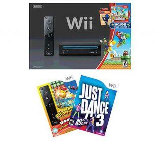 Nintendo Wii 2012 Bundle Just Dance 3, FlingSmash, Accessories