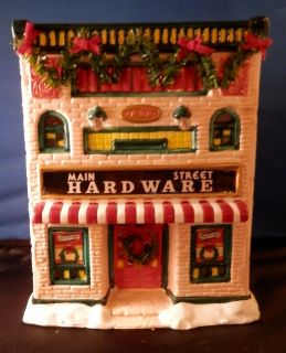 1992 CHRISTMAS VALLEY MAINSTREET COLLECTION HARDWARE STORE EUC