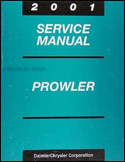 2001 Chrysler Prowler Service Manual Original OEM Repair Shop Book