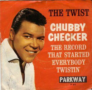 Chubby Checker 45 RPM The Twist Twisting USA