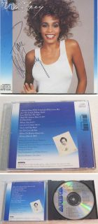 Authentic Whitney Houston Hand Signed Autographed CD Rest in Peace