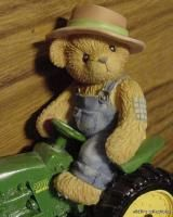 Cherished Teddies Chuck John Deere Teddy Bear Tractor 4010 Diesel 2000