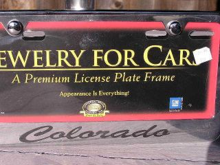 CHEVY COLORADO License Plate Frame Chrome Engraved Chevrolet