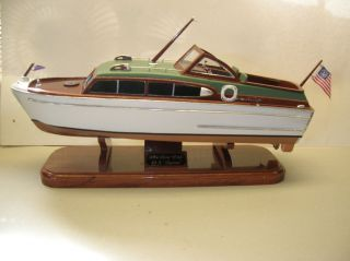 Vintage 1954 Chris Craft 33 Foot Captain Model Boat Custom Made 1 1 2