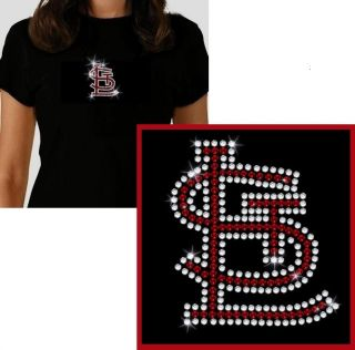 St Louis Cardinals Rhinestone T Shirt Style Choice