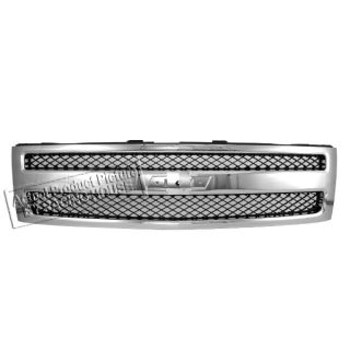 07 10 Chevy Silverado 1500 LS Lt Hybrid Chrome Front Grille Grill