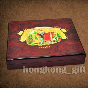 Cigar Case Romeo Juliet Wooden Wood Box Holder Humidor Hygrometer