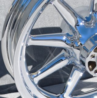 Harley Show Chrome Wheels Fatboy Heritage Softail 9 Spoke incl Rotors