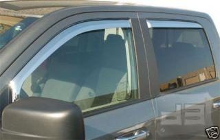 Dodge RAM Quad Cab Chrome Window Visors Vents 2009 2010