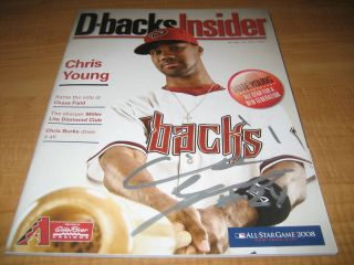 Chris Young Autographed D Backs Insider Magazine