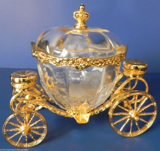 Cinderellas Coach Austrian Crystal 24K Gold Plate Franklin Mint 1989