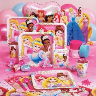 Princess Party Supplies Ariel Tiana Aurora Belle Cinderella