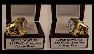 1985 Chicago Bears World Champions Championship Super Bowl XX NFL Ring