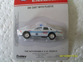 Cast with Plastic HO Scale Chicago Police Car Chevrolet Caprice