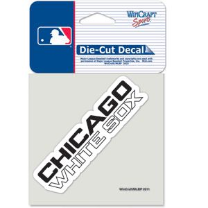 Chicago White Sox Script Die Cut Car Sticker MLB Decal 4 x 4 Colored