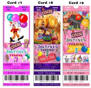 Circus Wonder Pets Custom Birthday Invitations Ticket Photo