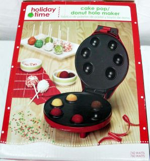 NEW Christmas HOLIDAY TIME Cake Pop Donut Hole Maker   Nice Gift!