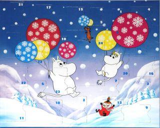 Moomin Christmas Advent Calendar Martinex 24 Toys