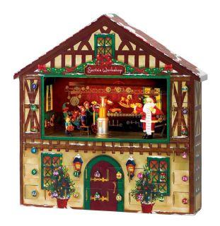 CHRISTMAS   ADVENT CALENDAR  SANTAS WORKSHOP ANIMATED MUSICAL ADVENT