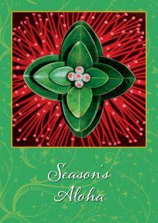 12 Hawaiian Holiday Card Hawaii Christmas Season Ohia