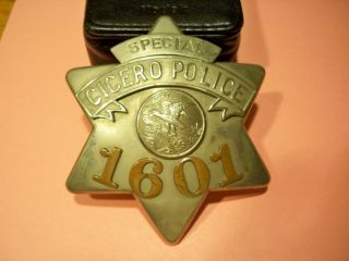 VINTAGE OBSOLETE CICERO ILLINOIS POLICE BADGE