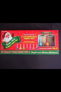Radko Shiny Brite Glass Christmas Tree Bubble Lights Set 7 New