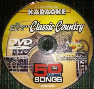 Karaoke The Greatest Songs of Classic Country 50 Hit Songs New