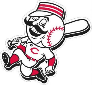 Cincinnati Reds Mr Redlegs MLB Digital Printed Graphic Vinyl Decal