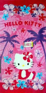 Hello Kitty Beach Towel Beach Towel Bathroom 28x58 in 100 Cotton Bath