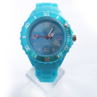 Small Face Size Childs Sport Watch Silicone Sheet Jelly Wrist Quartz