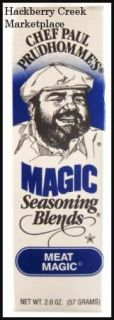 Chef Paul Prudhommes Seasoning Blends Meat Magic