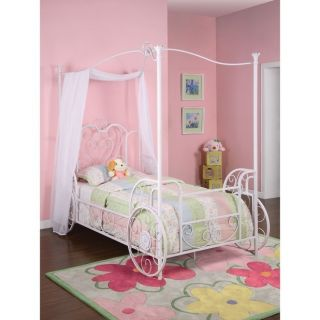 Cinderella Princess Carriage Canopy Bed Frame Girls Twin Youth Size