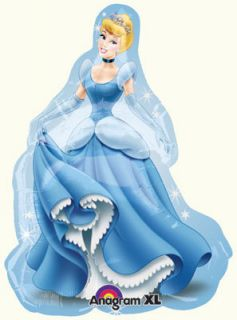 Cinderella Mylar Balloon Disney Princess Birthday Party Supplies