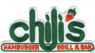Chilis Restaurant Bar Grill Official Logo Patch New