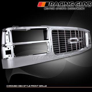 94 99 GMC Yukon Suburban 1500 Chrome Style Front Bumper Grille SL Sle