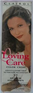 new clairol loving care hair color medium ash brown 77 dye color creme