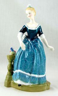 Royal Doulton Clarinda HN2724 Figurine 8 625 Woman Blue Dress Circles
