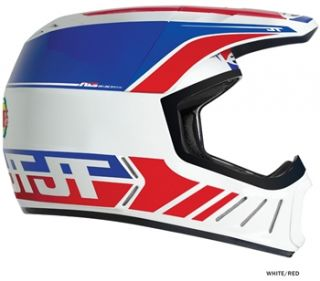 JT Racing ALS2 Full Face Helmet   White/Red 2012